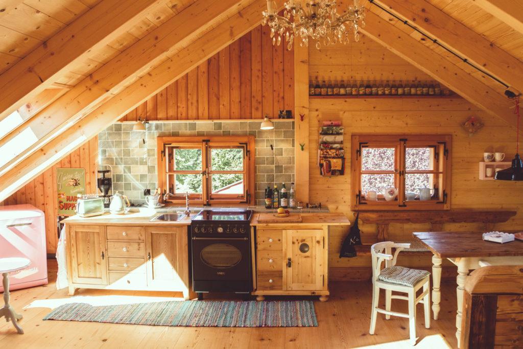 Ferienwohnung Schöne Aussicht Küche