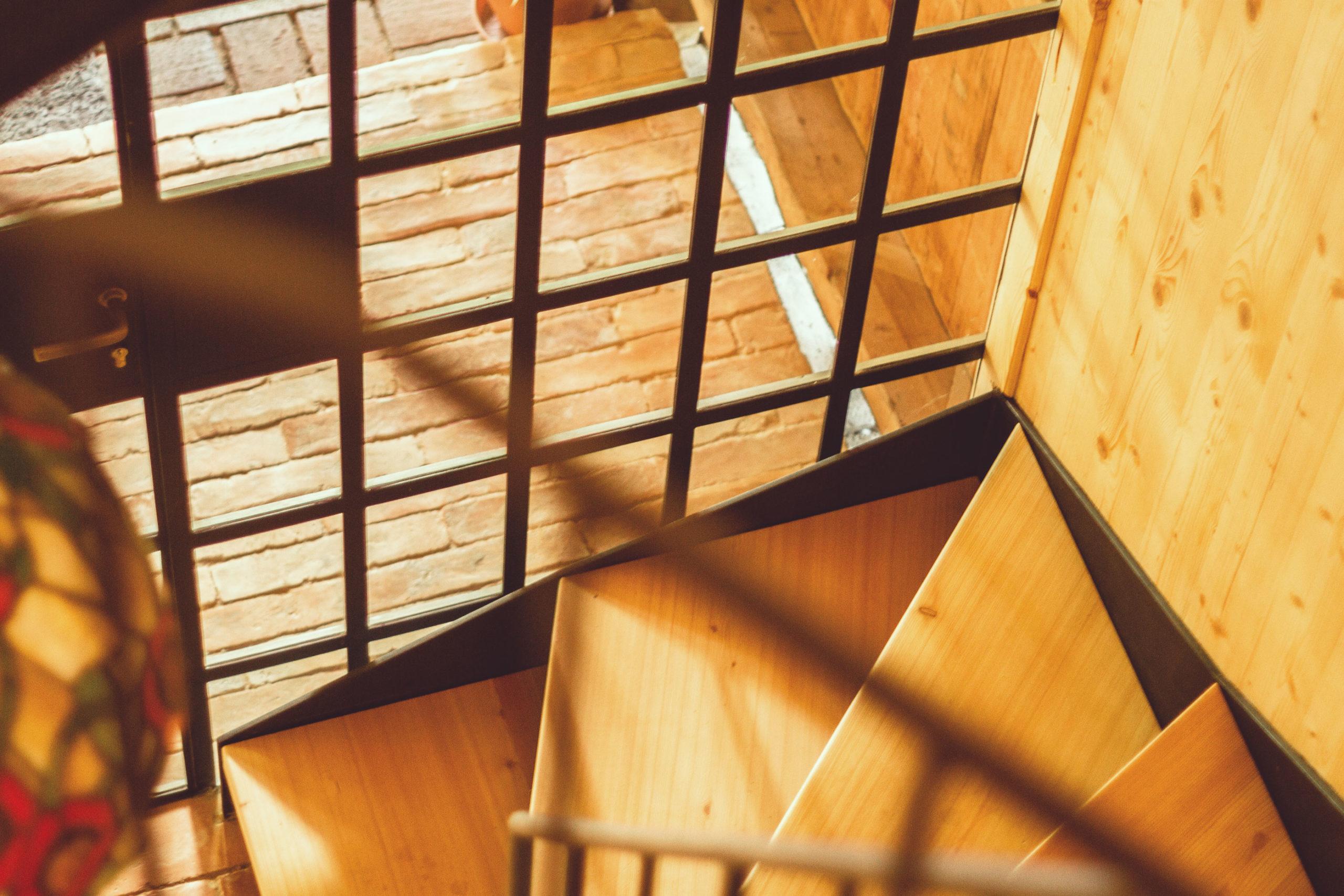 Ferienwohnung Schöne Aussicht Treppenaufgang